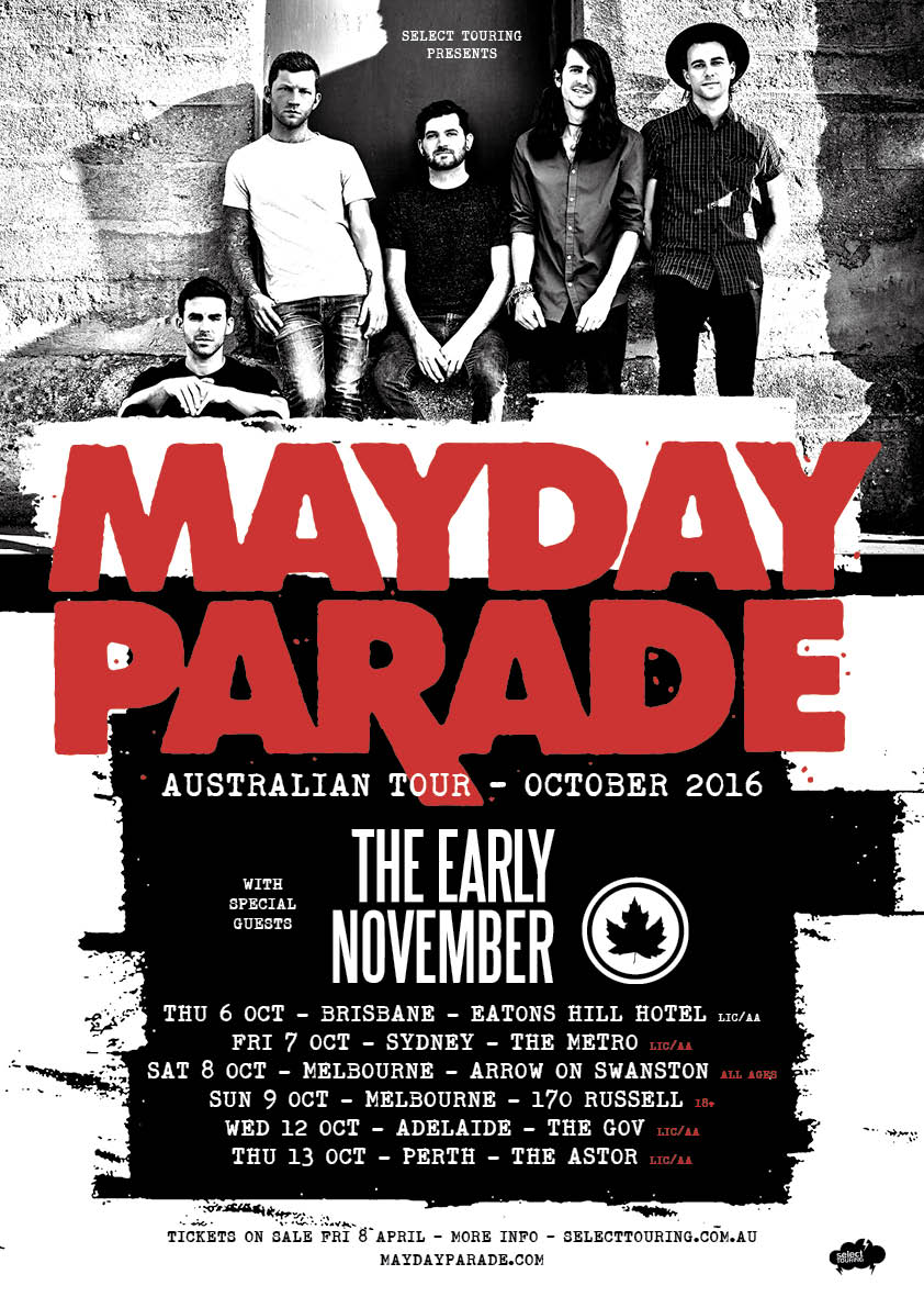 Mayday Parade With Special Guest The Early November Announce