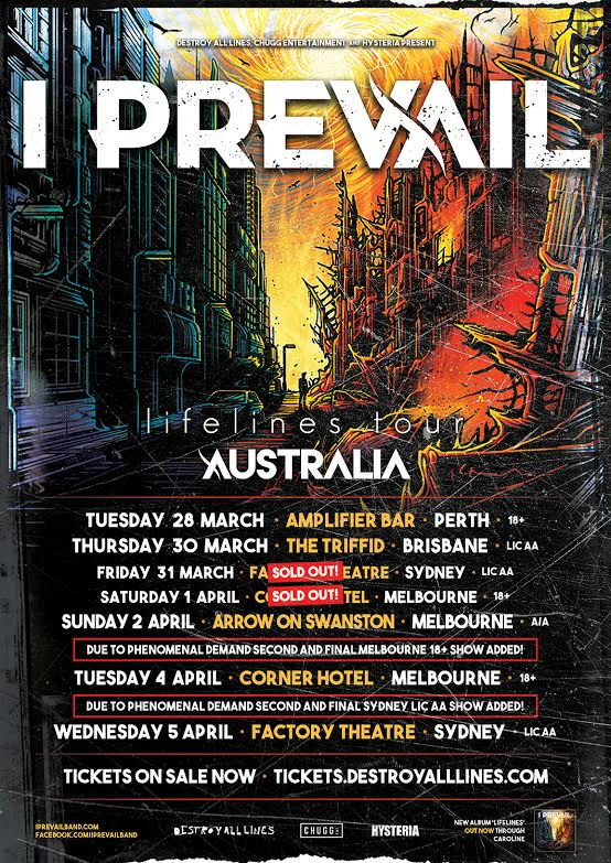 Lifelines Tour In March With I Prevail