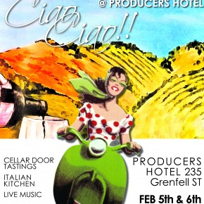 EVENT: CORIOLE WINERY TO BRING 'POP UP' CELLAR DOOR EVENT 'CIAO CIAO' TO ADELAIDE'S THE PRODUCERS HOTEL!
