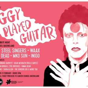 ZIGGY PLAYED GUITAR: DAVID BOWIE TRIBUTE NIGHT FOR THE CANCER COUNCIL LINEUP ANNOUNCEMENT!