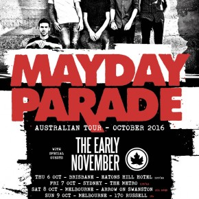 MAYDAY PARADE (WITH SPECIAL GUEST THE EARLY NOVEMBER) ANNOUNCE AUSTRALIAN TOUR!