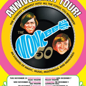 THE MONKEES ANNOUNCE 50TH ANNIVERSARY AUSTRALIA AND NEW ZEALAND TOUR!