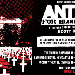 ANTI-FLAG SET TO HIT AUSSIE SHORES THIS DECEMBER WITH SPECIAL GUEST, SCOTT REYNOLDS!