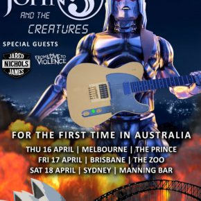 [NEWS] JOHN 5 AND THE CREATURES TO TOUR AUSTRALIA IN APRIL 2020 WITH SPECIAL GUEST JARED JAMES NICHOLS