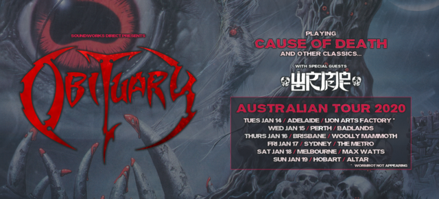 [NEWS] OBITUARY ADD ADELAIDE SHOW TO AUSSIE 'CAUSE OF DEATH' AUSTRALIAN TOUR
